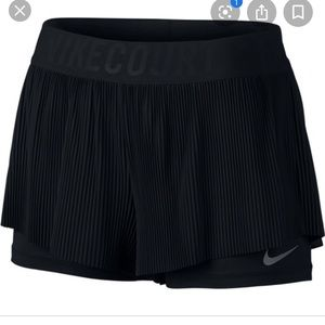 Black tennis skirt with compression shorts